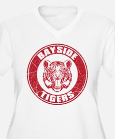 Bayside Tigers Retro Circle (Light) Plus Size T-Sh