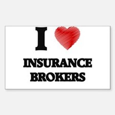 I love Insurance Brokers (Heart made from Decal