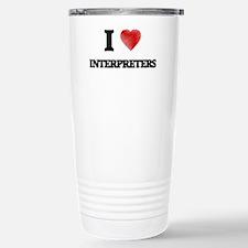 I love Interpreters (He Travel Mug