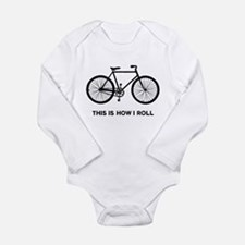 Funny How i roll curling Long Sleeve Infant Bodysuit