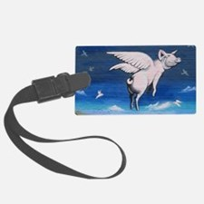 Unique Pigs with wings Luggage Tag