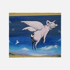 Cute Pig wall Throw Blanket