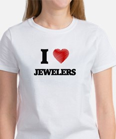 I love Jewelers (Heart made from words) T-Shirt