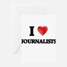 I love Journalists (Heart made from Greeting Cards