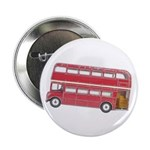 "Anglophile Vintage Bus 2.25"" Button (100 pack)"