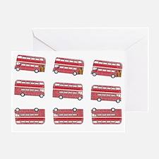 Anglophile Vintage Bus Greeting Card