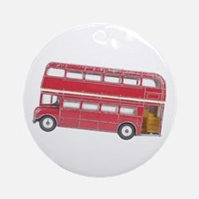 Anglophile Vintage Bus Ornament (Round)