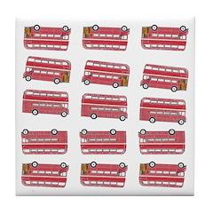Anglophile Vintage Bus Tile Drink Coaster
