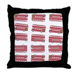 Anglophile Vintage Bus Throw Pillow