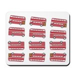 Anglophile Vintage Bus Mousepad