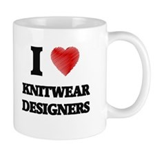 I love Knitwear Designers (Heart made from wo Mugs