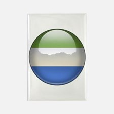 Sierra Leone Flag Jewel Rectangle Magnet