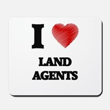 I love Land Agents (Heart made from word Mousepad