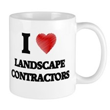 I love Landscape Contractors (Heart made from Mugs