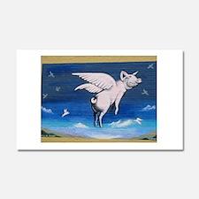 Cute Flying pigs Car Magnet 20 x 12