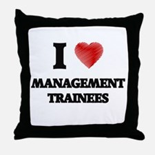 I love Management Trainees (Heart mad Throw Pillow