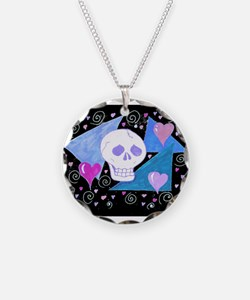 EelKat's Gothic Skull with H Necklace