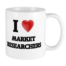 I love Market Researchers (Heart made from wo Mugs