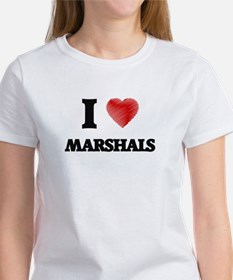 I love Marshals (Heart made from words) T-Shirt