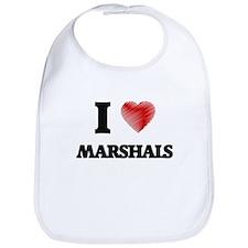 I love Marshals (Heart made from words) Bib