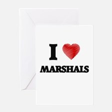 I love Marshals (Heart made from wo Greeting Cards