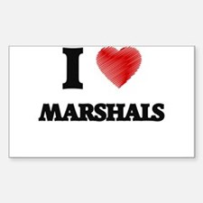 I love Marshals (Heart made from words) Decal