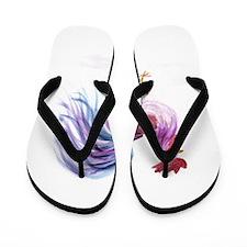 EelKat's Purple Pastel Rooster Flip Flops