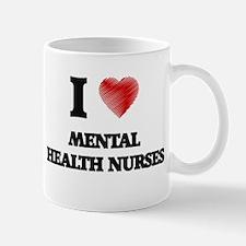 I love Mental Health Nurses (Heart made from Mugs