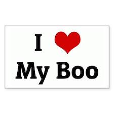 I Love My Boo Rectangle Decal