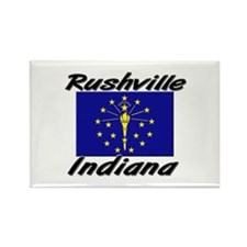 Rushville Indiana Rectangle Magnet