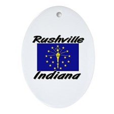 Rushville Indiana Oval Ornament
