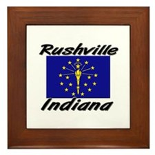 Rushville Indiana Framed Tile