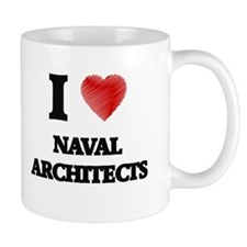 I love Naval Architects (Heart made from word Mugs