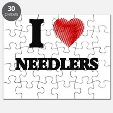 I love Needlers (Heart made from words) Puzzle