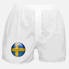 Sweden Flag Jewel Boxer Shorts