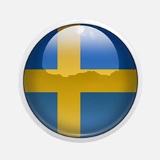 Sweden Flag Jewel Ornament (Round)