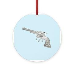 Toy Gun Vintage Print Ornament (Round)