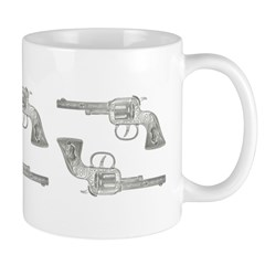 Toy Gun Vintage Print Ceramic Coffee Mug