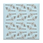 Toy Gun Vintage Print Tile Drink Coaster