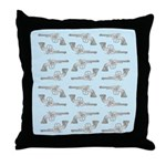 Toy Gun Vintage Print Throw Pillow