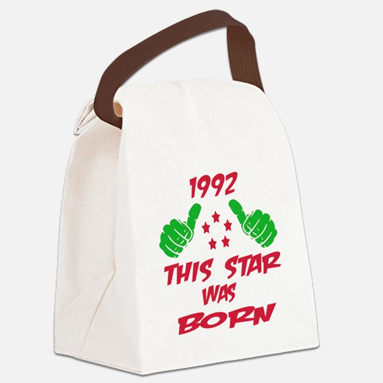 1992 This star was born Canvas Lunch Bag