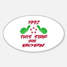 1992 This star was born Sticker (Oval)