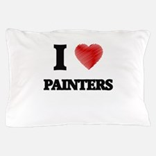 I love Painters (Heart made from words Pillow Case