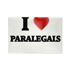 I love Paralegals (Heart made from words) Magnets