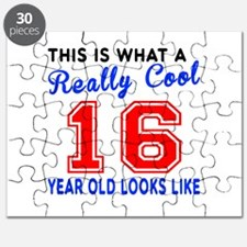 Really Cool 16 Birthday Designs Puzzle