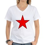 Soviet - Era Russian Women's V-Neck T-Shirt