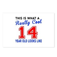 Really Cool 14 Birthday D Postcards (Package of 8)