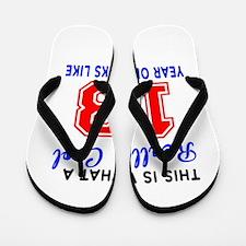 Really Cool 13 Birthday Designs Flip Flops