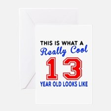 Really Cool 13 Birthday Designs Greeting Card