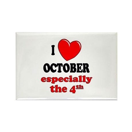 October 4th Rectangle Magnet (10 pack)